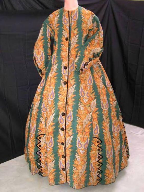 green striped wool wrapper